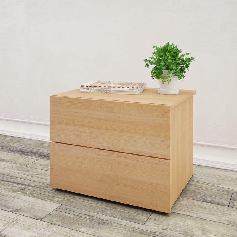Aruba Nightstand 2-Drawer - Natural Maple