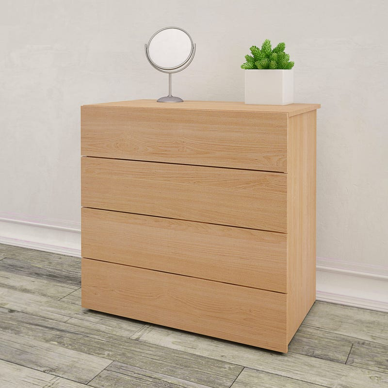 Aruba 4-Drawer Chest - Natural Maple