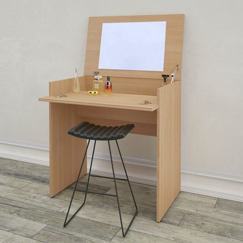 Aruba Vanity with mirror / Writing Desk - Natural Maple