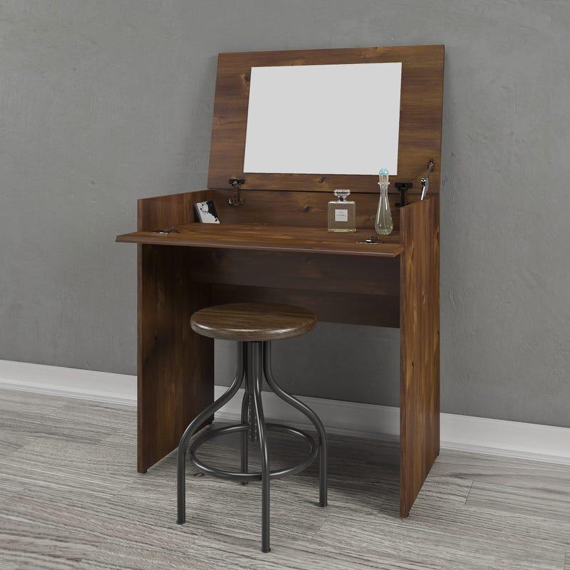 Bogota Vanity with mirror / Writing Desk - Truffle