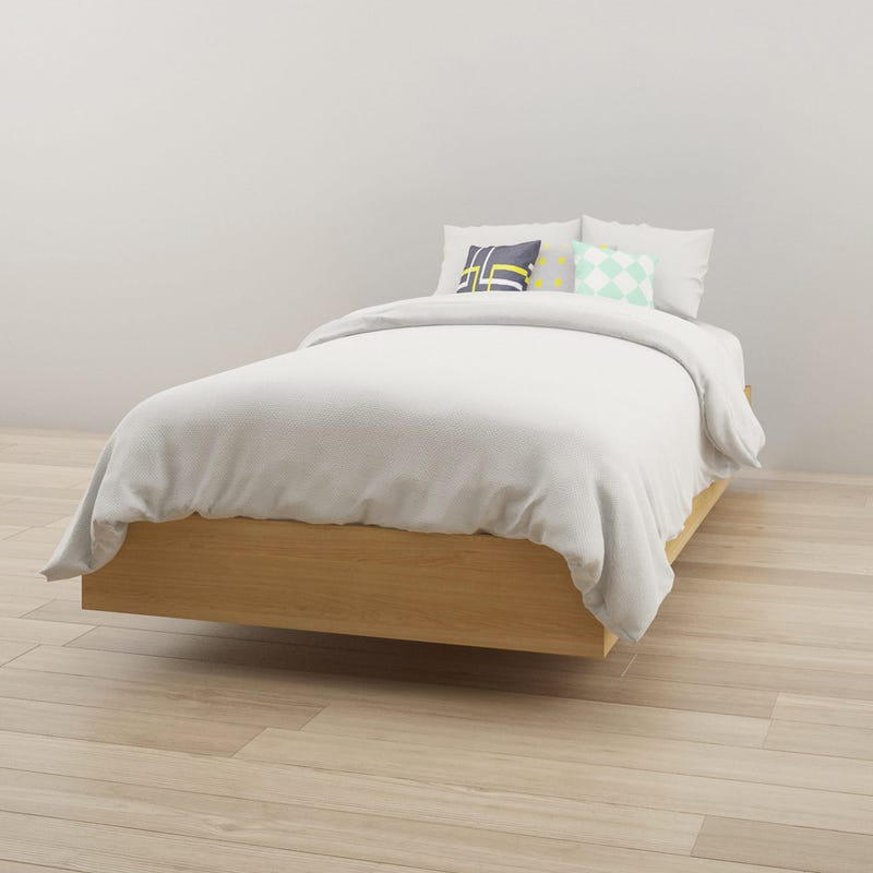 Fiji Twin Size Platform Bed - Natural Maple