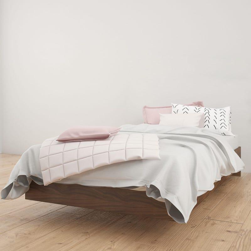 Identi-t Twin Size Platform Bed - Walnut