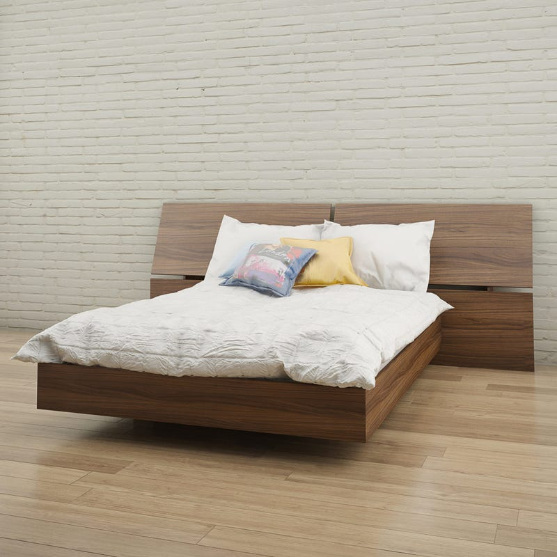 Alibi Full Size Panoramic Headboard - Walnut