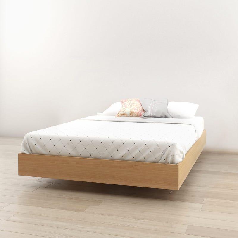 Fiji Full Size Platform Bed - Natural Maple