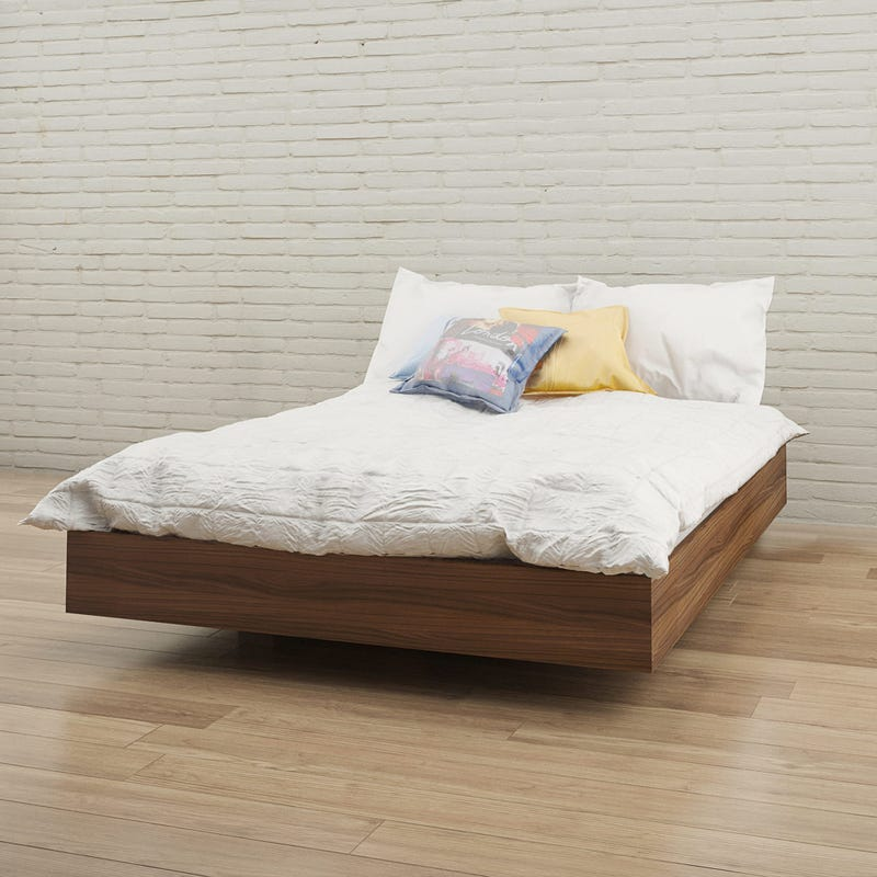 Alibi Full Size Platform Bed - Walnut