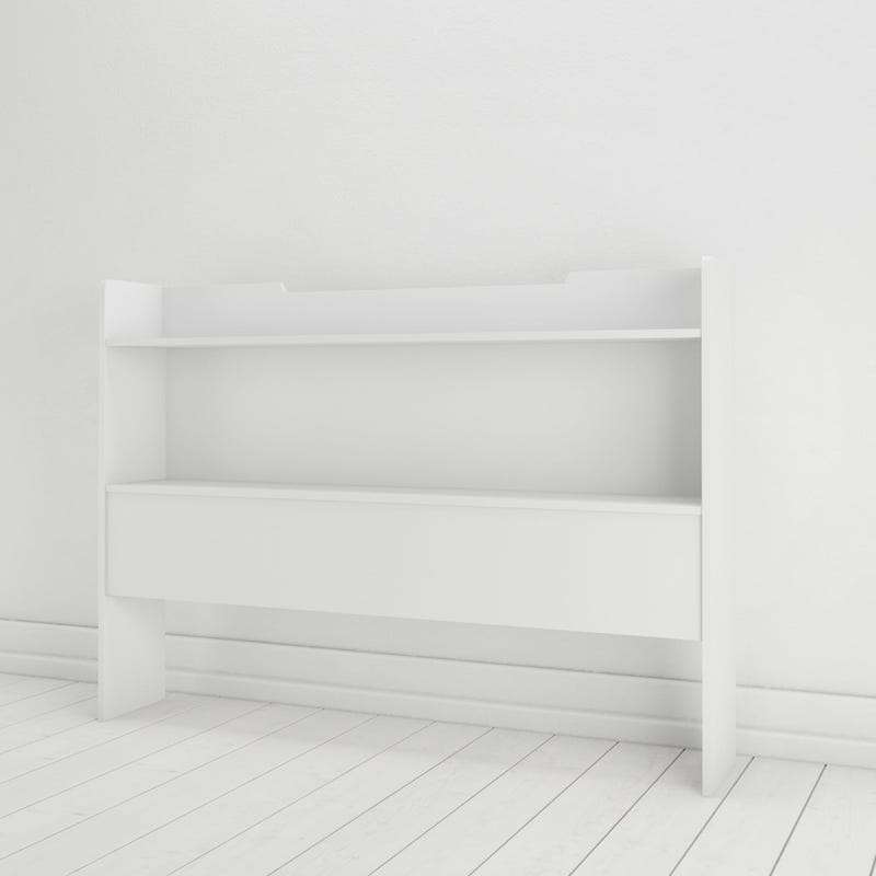 Aura Full Size Storage Headboard - White