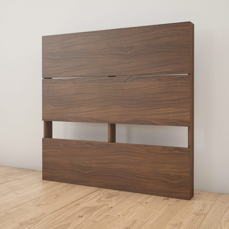 Axel Twin Size Plank Effect Headboard - Walnut