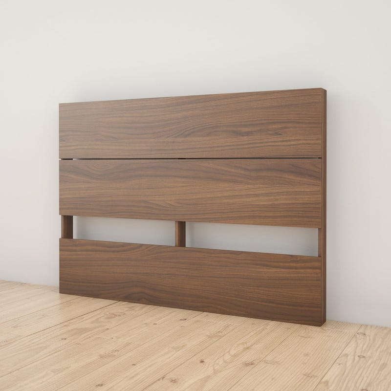 Axel Full Size Plank Effect Headboard - Walnut