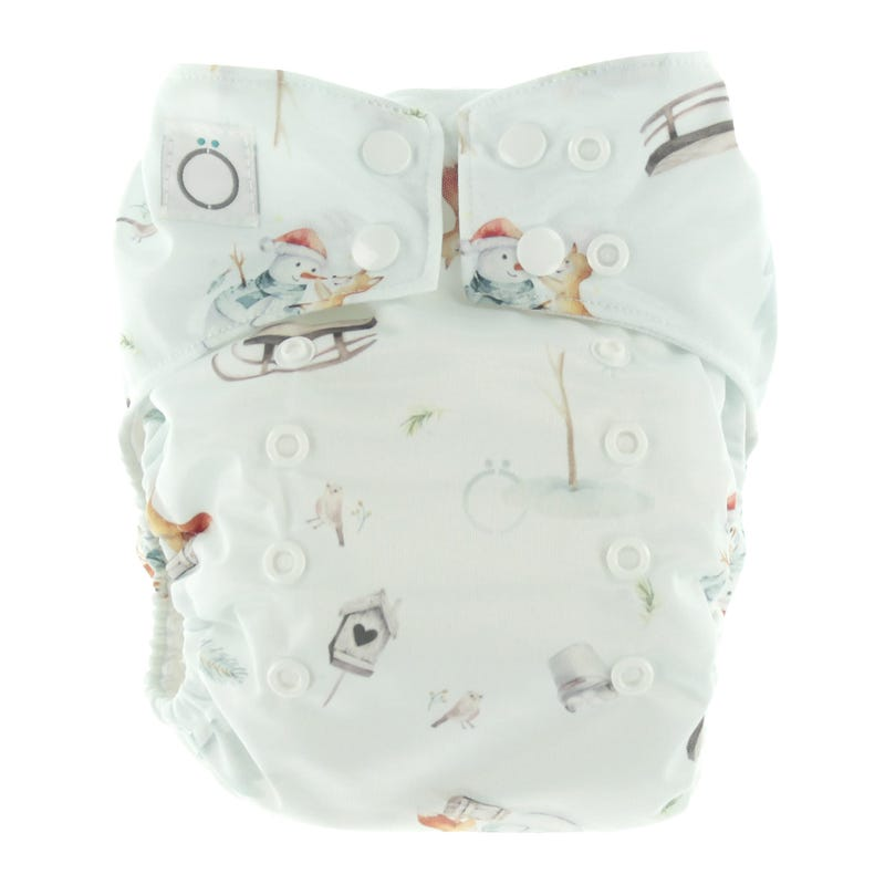 Aïo Cloth Diaper 8-35lb - Snowmen