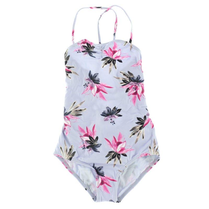 Mini Sydney Lace-Up One-Piece Swimsuit 7-14y
