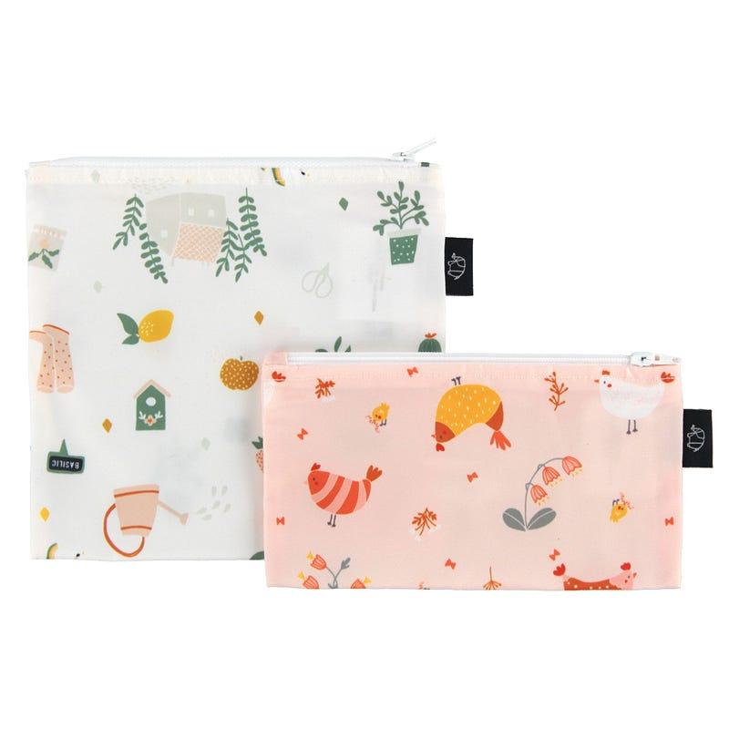 2-Pack Snack Bags - Garden