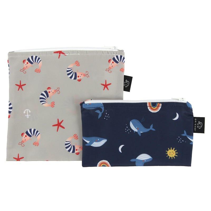 2-Pack Snack Bags - Sea