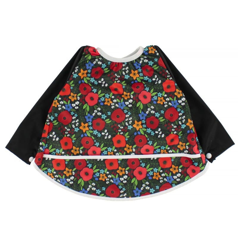 Long Sleeves Bib 0-36months - Poppies