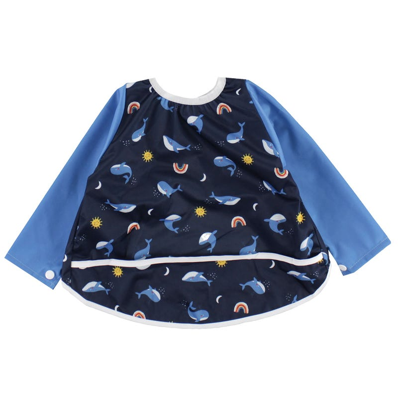 Long Sleeves Bib 0-36m - Whales