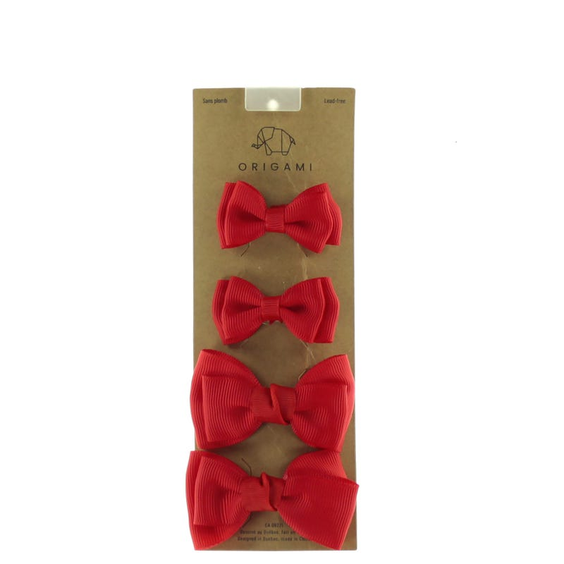 S/M Hair Bows - Set of 4