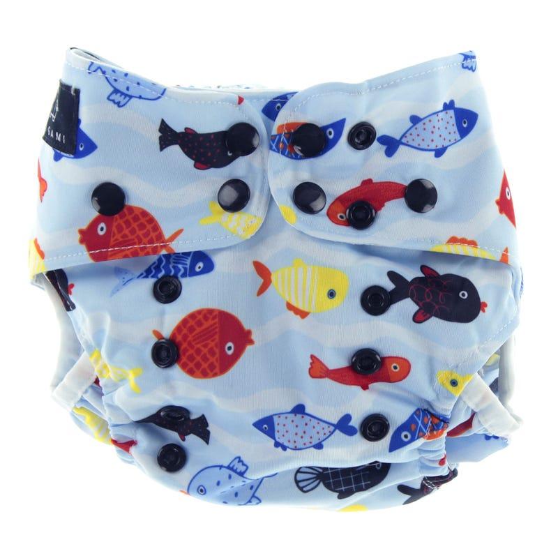 Fishes Swim Diaper 8-40lb