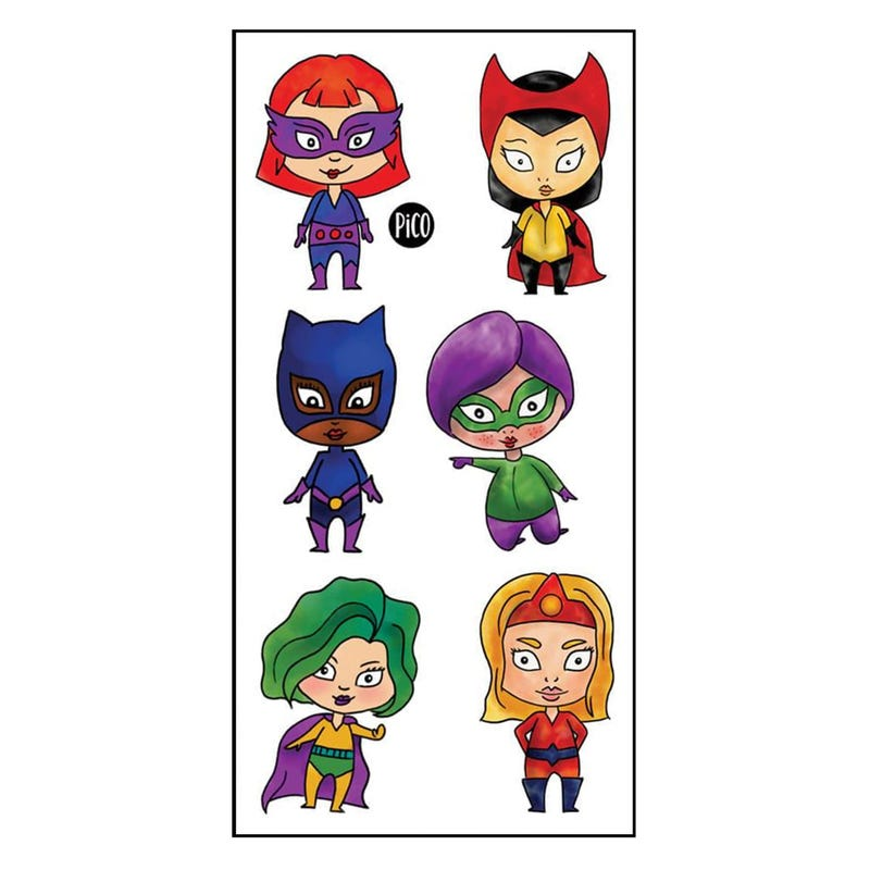 Tatouages Pico-Super-heroines