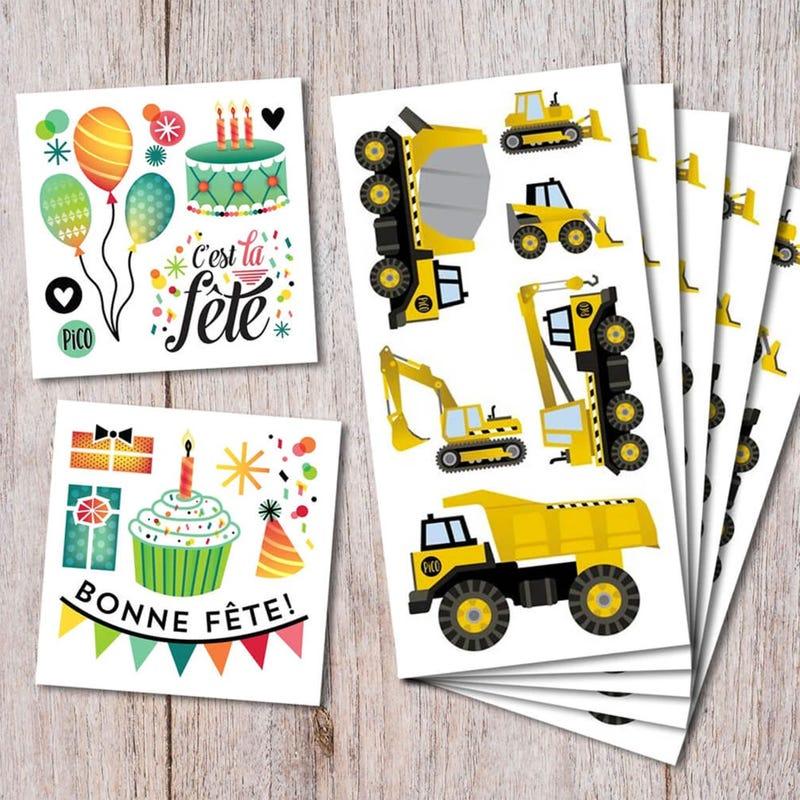 Birthday Kit Tattoos - Trucks