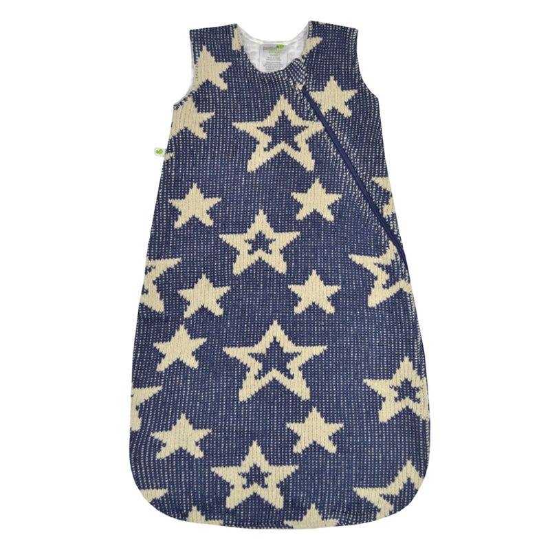Sleep Bag Chenille Star 0-36m - Blue