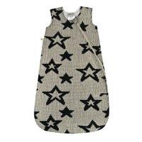 Chenille Sleep Bag 0-36m - Black Stars