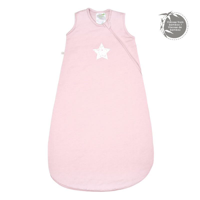 Quilted Bamboo Sleep Bag 0-36m - Pink