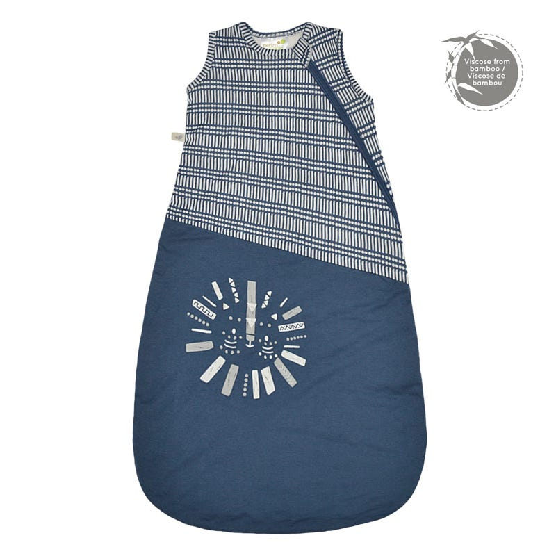 Quilted Bamboo Sleep Bag  Stick Navy 0-36m