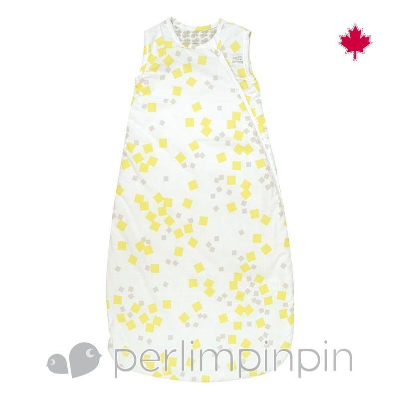 Woven Cotton Nap Bag - Yellow Squares  0-36m