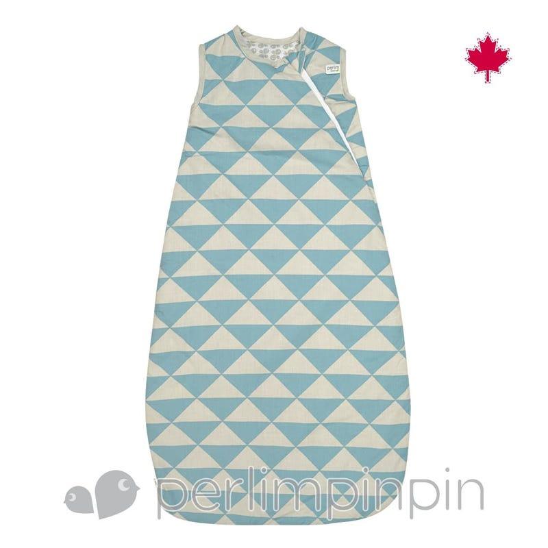 Woven Cotton Nap Bag - Blue Triangle  0-36m