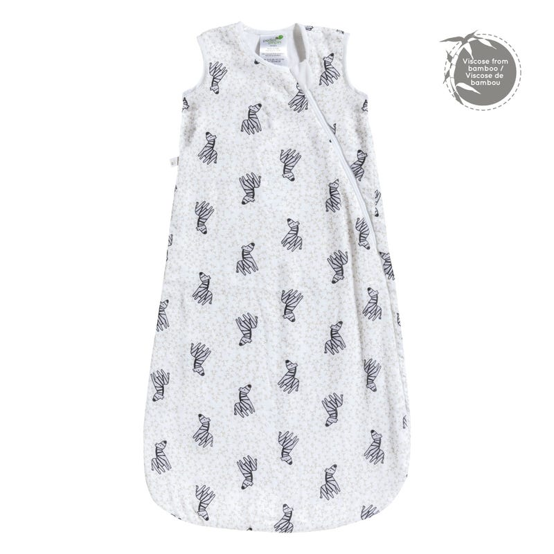 Bamboo Muslin Sleep Bag 0-36m - Zebras