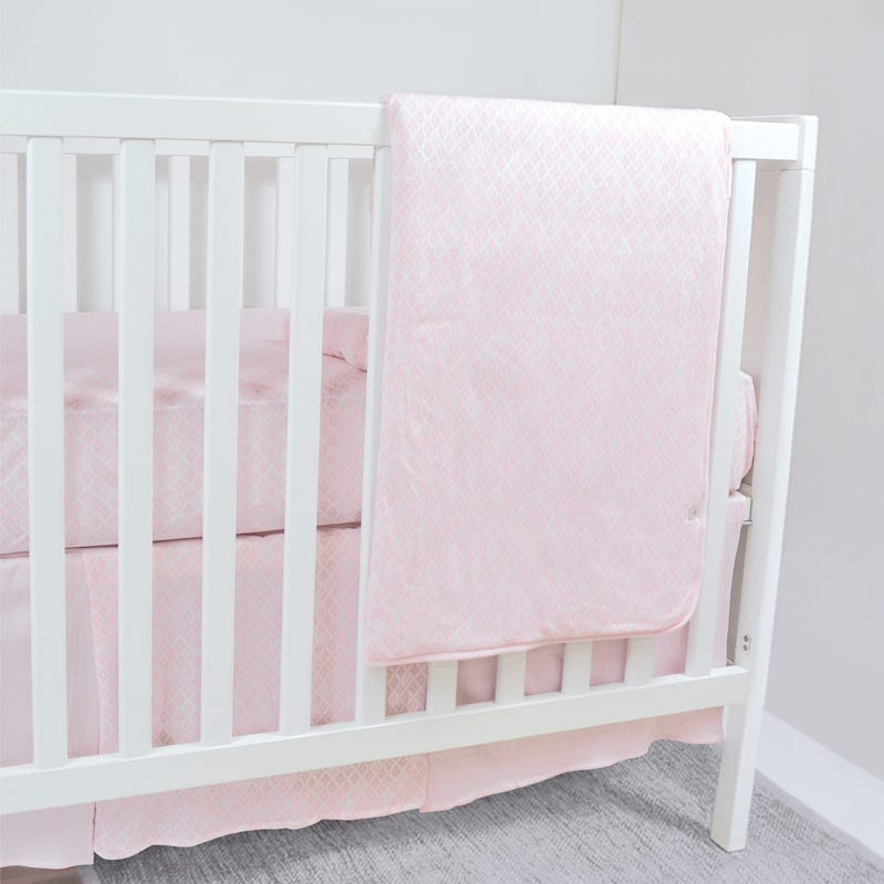 Bamboo Crib Bedding Diamonds - Pink