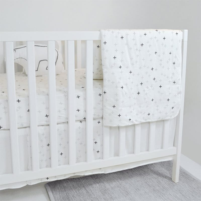Bamboo Crib Bedding  - Plus Ivory