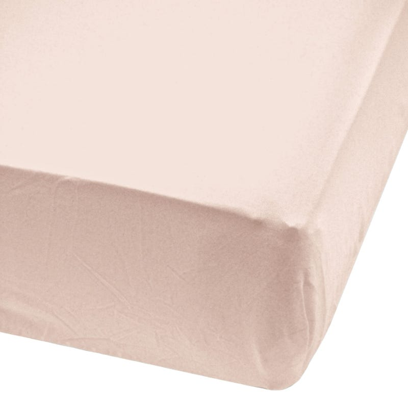 Crib Bambou Fitted Sheet  - Pink