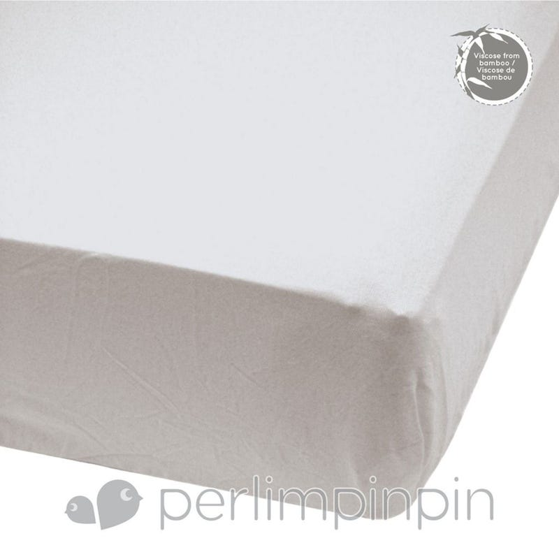 Crib Bamboo Fitted Sheet - Gray