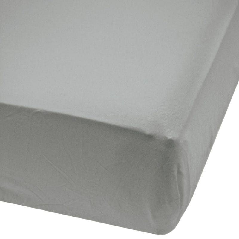 Crib Bambou Fitted Sheet - Pebble