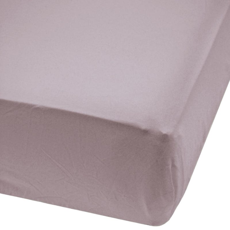 Crib Bambou Fitted Sheet - PLum