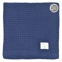 Bamboo Knitted Blanket - Navy