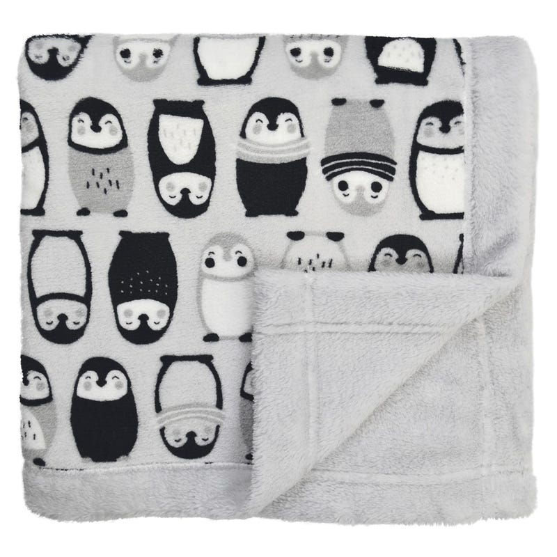 Plush Blanket Penguins
