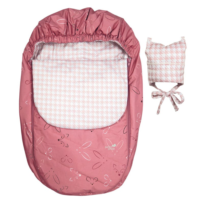 Mid-Season Car Seat Cover - Pink Animals