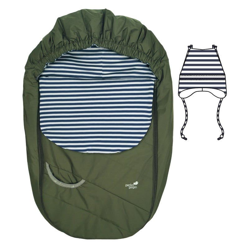 Mid-Season Car Seat Cover - Spinach