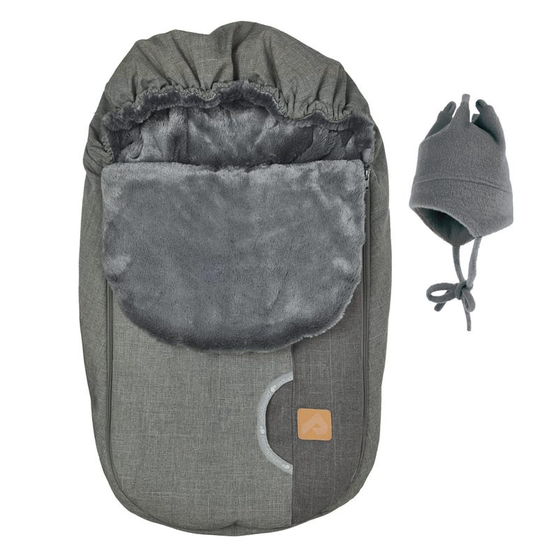 Baby Winter Car Seat Cover Textured - Grey Two-Tone