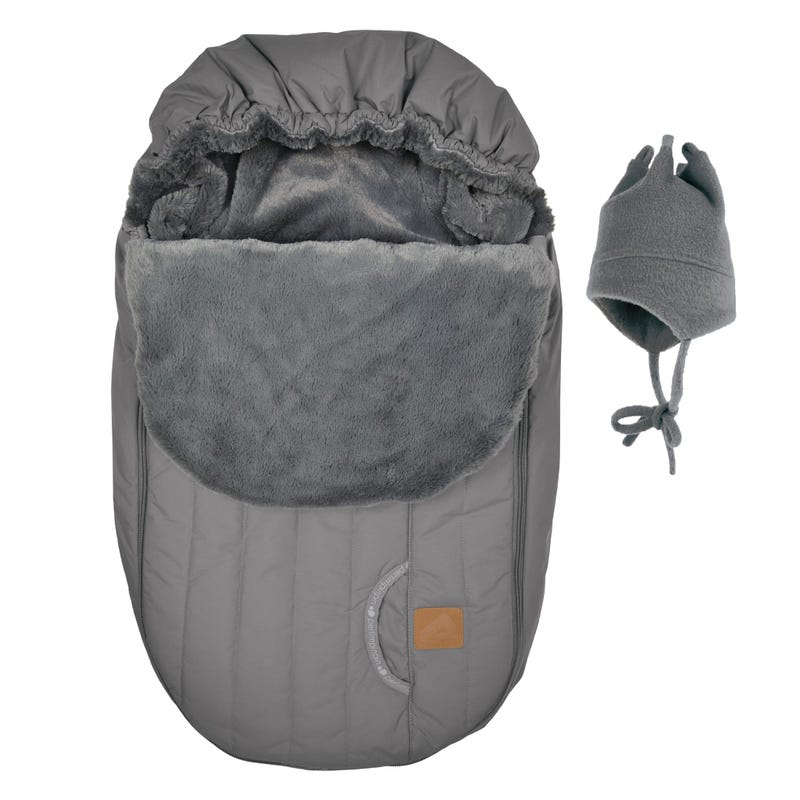 Baby Winter Car Seat Cover - Dark Gray