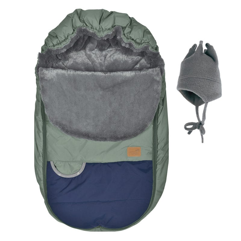 Car Seat Cover -  Green / Gray / Navy