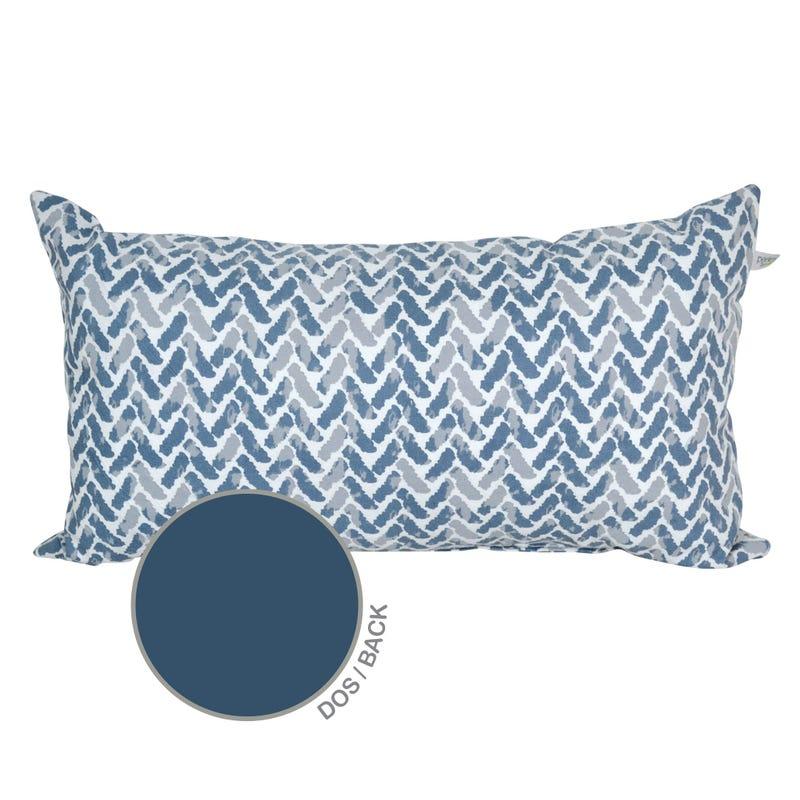 Reversible Rectangular Cushion Chevron - Blue