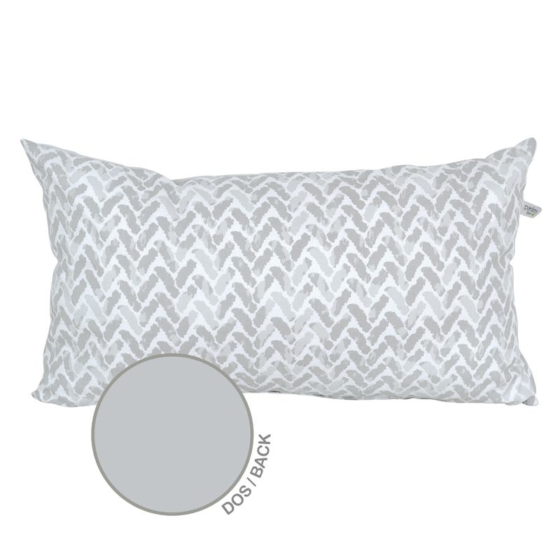 Reversible Rectangular Cushion - Gray