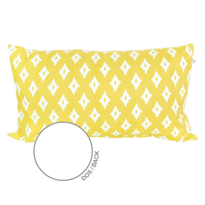 Reversible Rectangular Cushion Diamond - Yellow