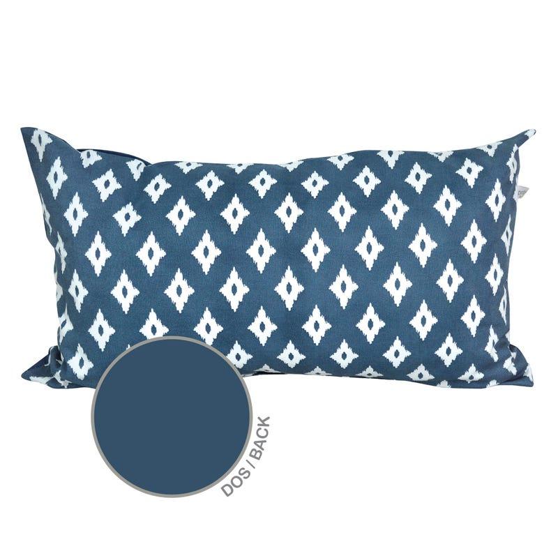 Reversible Rectangular Cushion Diamond - Navy