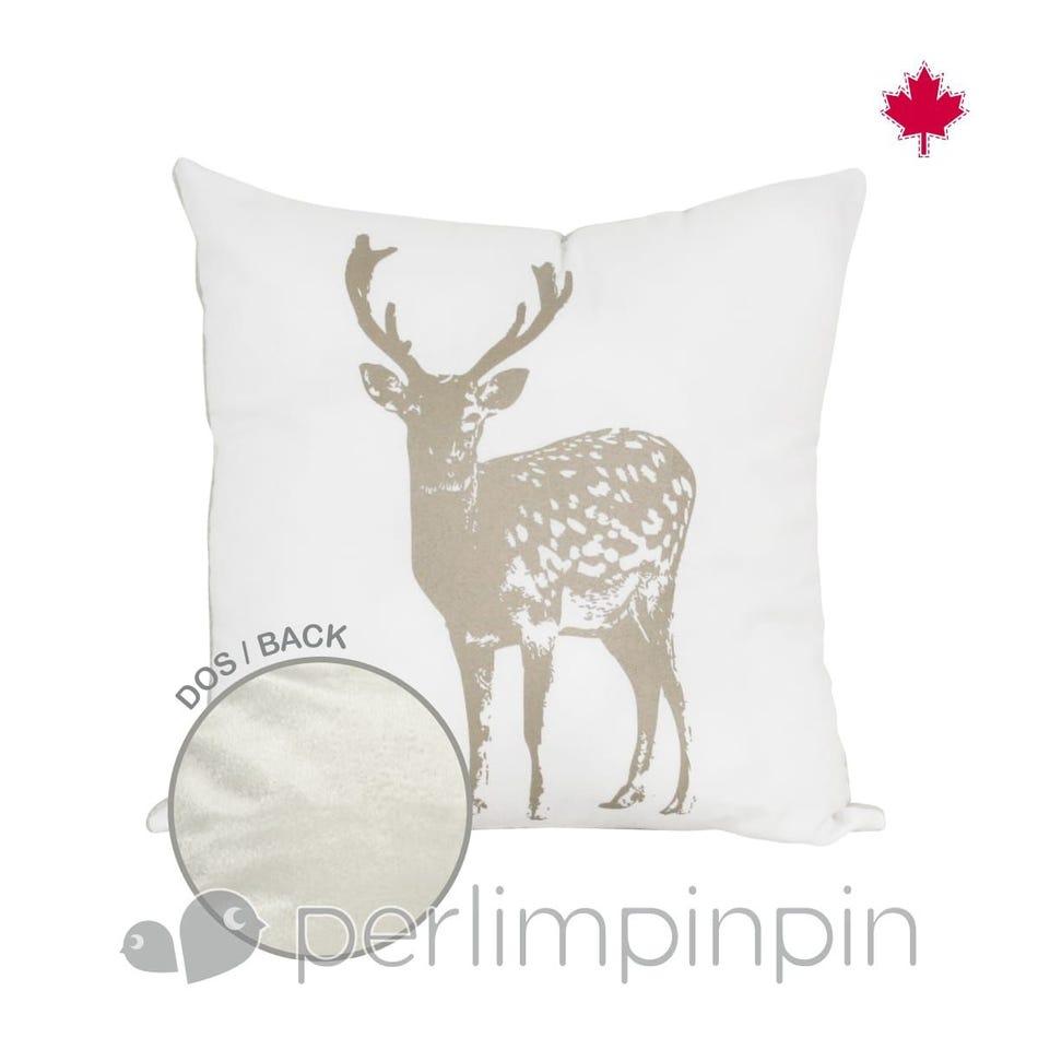 dd3c1c78578b Perlimpinpin Cushions Moose Print - Clement