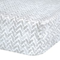 Crib Fitted Sheet Chevron - Gray