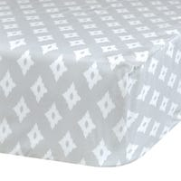 Crib Fitted Sheet Diamond - Gray