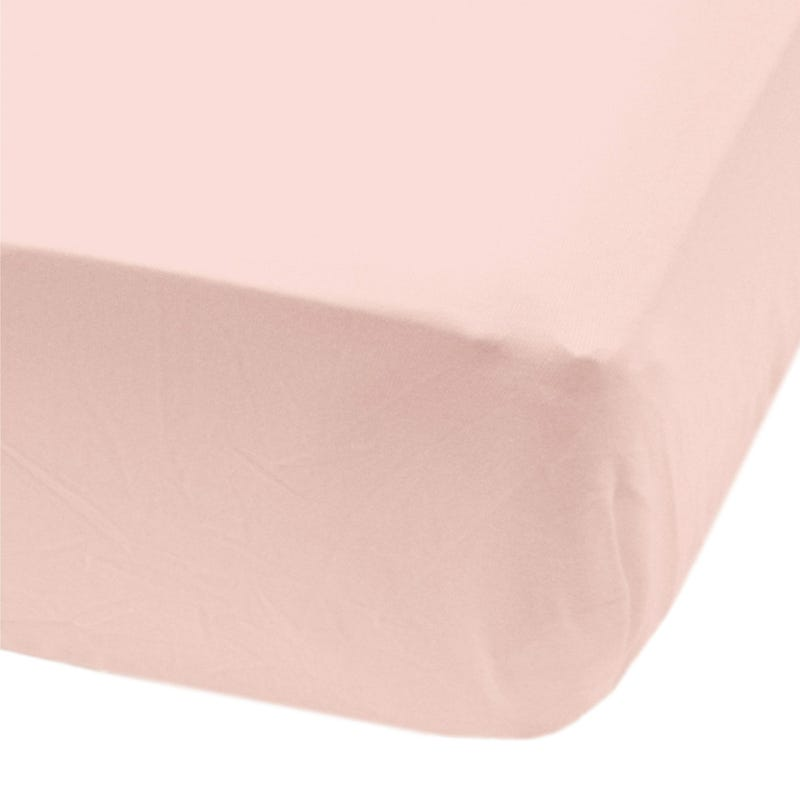 Crib fitted sheet-light pink
